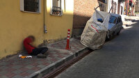 Minik vücudu büyük sorumluluğa dayanamadı: Kazandığı parayı avucuna sıkıştırıp kaldırımda uyuya kaldı