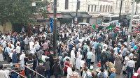 Vatandaşlar erken saatte Ayasofya Camii'ne akın etti