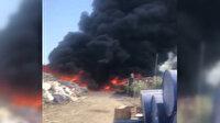 Manisa'da geri dönüşüm tesisinde korkutan yangın