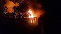 Safranbolu'da tarihi iki konakta yangın çıktı