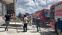 Arnavutköy'de motor tesisatı yapan bir iş yerinin havalandırma kısmında patlama