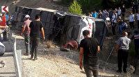Mersin'de askerlerimizi taşıyan otobüs devrildi: 5 şehit, yaralılar var