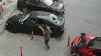 Silivri'de kavgalı oldukları ailenin otomobilini paramparça ettiler
