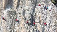 Sümela Manastırı'nın gizli kahramanları: Metrelerce yükseklikte çalışmalarını sürdürüyorlar