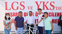 Lgs'de ilk 250 dereceye giren öğrencilere bisiklet hediyeleri verildi