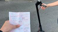 Elektrikli scooter ile yola inen yandı: Polis ceza kesmeye başladı
