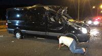 Düğün minibüsünde lastik dehşeti: 3'ü ağır 12 yaralı var!