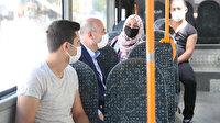 Bakan Soylu denetimde: Halk otobüsüne bindi, çarşı pazar dolaşıp vatandaşı uyardı