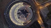 Türkiye'nin ilk ay yıldızlı camisi havadan görüntülendi