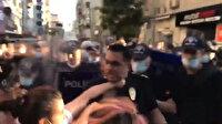 İstanbul Sözleşmesi eyleminde kadın eylemciler polisin boğazını sıkıp hakaretler savurdu