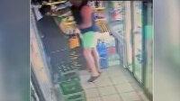 Maske takmadığı için kendisini uyaran kadın çalışanı yumruk atarak bayılttı