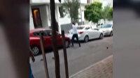 Eşiyle kavga eden kişi sopayla otomobilinin camlarını kırdı