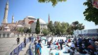Ayasofya Cami'nde cuma namazı hazırlıkları tamamlandı