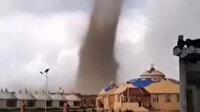Moğolistan'da korkutan görüntü: Dev hortum yerleşim yerini vurdu