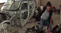 Çaldıkları otomobilleri parçalayarak satanlar suçüstü yakalandı