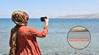 Van Gölü'nde gördükleri cisim hem korkuttu hem heyecanlandırdı: Sırtı zikzaklı olan yaklaşık 20 metre uzunluğunda