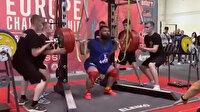 Rus halterci 400 kilogram kaldırmaya çalışırken dizlerini kırdı