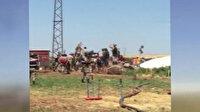 Siverek'te kaçak trafolara el koyan Dicle Elektrik görevlilerine saldırdılar