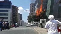 Ümraniye'de korkutan yangın: Elektrik kabloları faciaya neden oluyordu