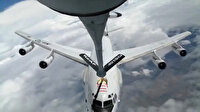 Romanya üzerinde uçuş yapan NATO uçağına Türk Hava Kuvvetlerinden yakıt ikmali