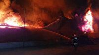 Seyhan'da geri dönüşüm fabrikasında yangın