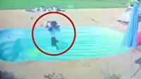 Havuza düşen çocuk boğulmaktan son anda kurtuldu