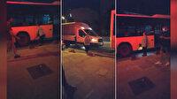 İETT'nin mazotu bitti: Arnavutköy'de yolda kalan İETT otobüsüne Ayazağa'dan yakıt ikmali yapıldı
