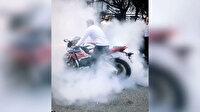 """İstanbul'da motosikletli magandaların """"drift"""" terörü kamerada"""