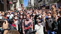 İstanbul Barosu önünde toplanan DHKP-C yandaşları ant içti