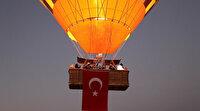 Kapadokya'da 30 Ağustos Zafer Bayramı gökyüzünde kutlandı