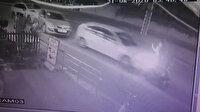 Antalya'da alkollü sürücü dehşet saçtı: Zincirleme kaza güvenlik kamerasına böyle yansıdı