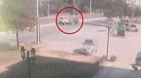 Beş kişinin yaralandığı ilginç kaza kamerada: Yeşil ışıkta duran araca arkadan çarptı