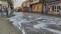 Adana'da koronavirüs paniği: Mahalleyi çamaşır suyu ile yıkadılar