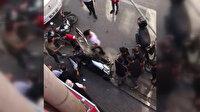 Bursa'da palalı sopalı esnaf kavgası kamerada: Bir kişi yaralandı