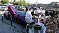 Beyoğlu'nda milyonluk Lamborghini'nin bagajında karpuz sattı: Görenler şaştı kaldı