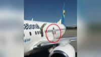 İniş yapan uçağın kanadında yürüdü, kara listeye alındı