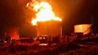 Musul'da petrol rafinesinde dev yangın