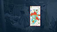 Ankara'nın korkutan koronavirüs yoğunluk haritası