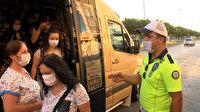 Avcılar'da denetime takılan minibüsten ayakta fazladan 15 yolcu çıktı