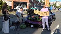 Lüks otomobilde karpuz satışı pahalıya patladı: Trafikten men edildi