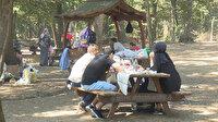 Belgrad Ormanı tıklım tıklım, sosyal mesafe sıfır