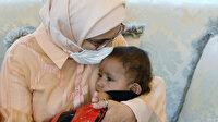 Kolları ile bacakları olmayan Suriyeli Muhammed bebek, Emine Erdoğan'ın misafiri oldu