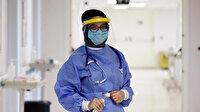 Hastalardan koronavirüs kapan Büşra hemşire virüsü yener yenmez görevinin başına geri döndü