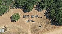 Kırklareli'de belediye işçilerinden piknikçilere mesaj: Çöplerle 'ayıp beya' yazdılar