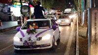 Vakaların arttığı kentte tedbirler hiçe sayılıyor: Yasağa rağmen düğün konvoyu yapıp, trafiği birbirine kattılar