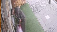 Ümraniye'de yaşlı adam çiçek saksılarını böyle çaldı