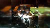 Trabzon'da aracı arızalanan vatandaşın yardımına polis ekipleri yetişti