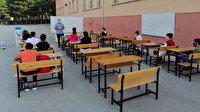 Amasya'da 8'inci sınıf öğrencilerine okul bahçesinde LGS'ye hazırlık kursu