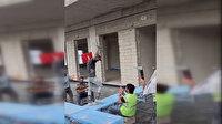 Trabzon''da inşaat işçilerinden mankenlere taş çıkartacak defile