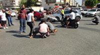 Antalya'da kadın sürücü çarptığı genç kızın başından ayrılmadı